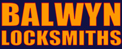 Balwyn Locksmiths Blue Background Logo